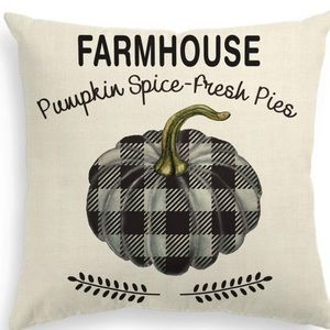 NWOT Farmhouse Pumpkin Pillow Cover